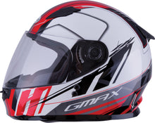 Load image into Gallery viewer, YOUTH GM-49Y FULL-FACE ROGUE HELMET WHITE/RED YL