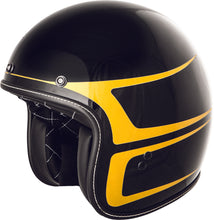 Load image into Gallery viewer, .38 SCALLOP HELMET GLOSS BLACK/YELLOW LG