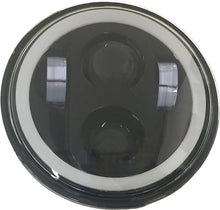 Load image into Gallery viewer, 5 3/4 LED HEADLIGHT WITH FULL HALO BLACK