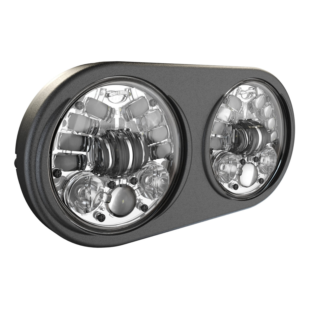 8692 LED HEADLIGHT DUAL 5.75 CHR BEZEL