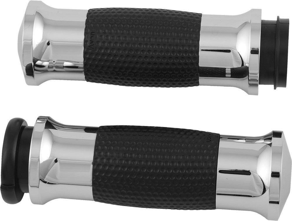 AIR GEL GRIPS W/F-B-W THROTTLE CHROME