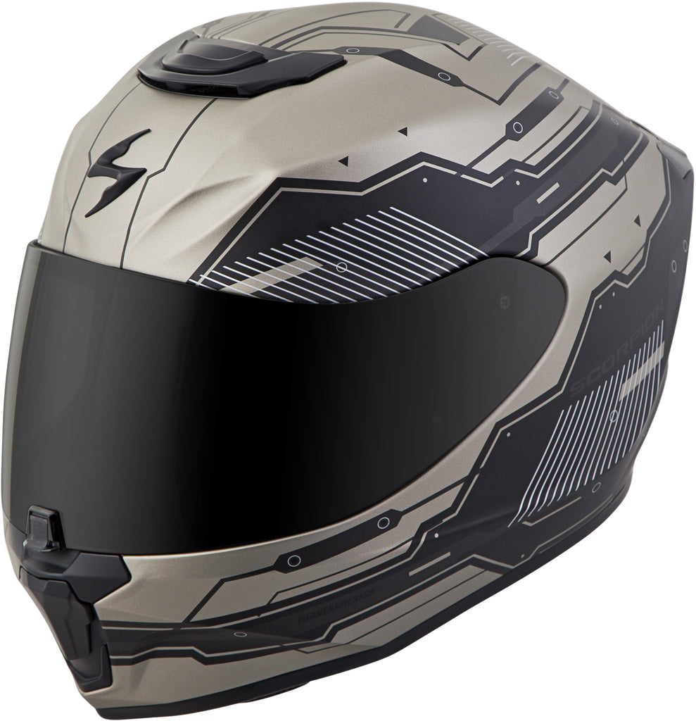 EXO-R420 FULL-FACE TECHNO HELMET TITANIUM/BLACK 2X