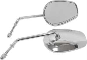 Oem Style Tapered Mirror Long Stem Chrome