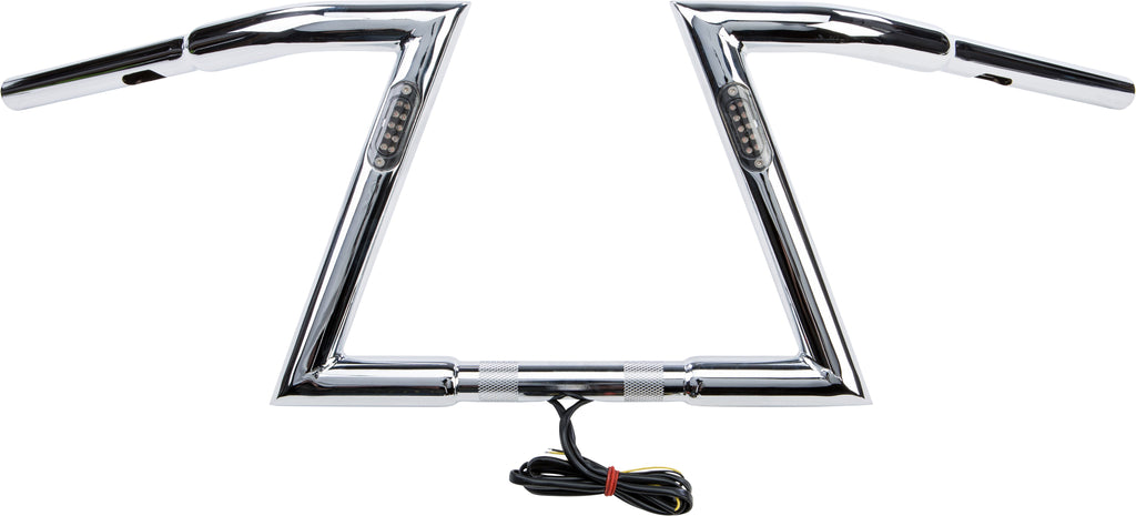 "Z BARS HANDLEBAR 10"" 33.5"" LIGHT CHROME HARLEY DAVIDSON"