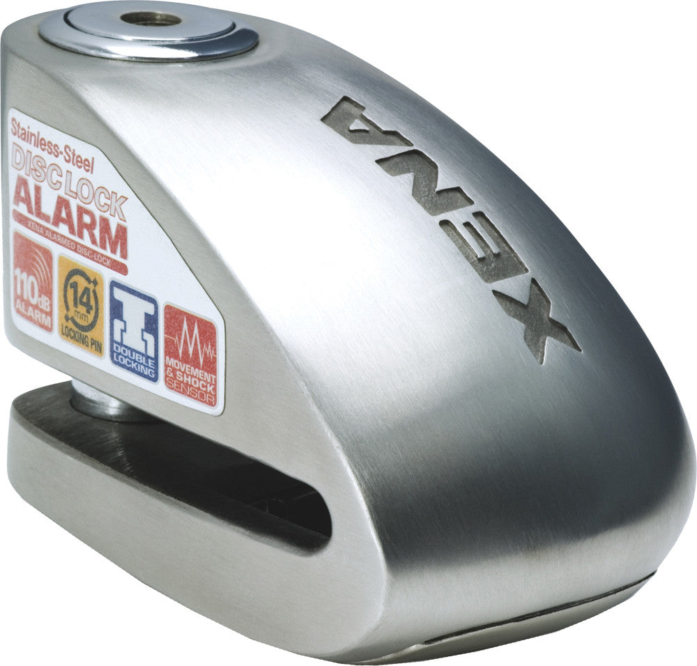 XX6 ALARM DISC LOCK 3.3 X 2.3 (STAINLESS STEEL)
