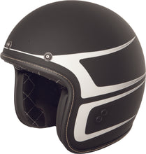 Load image into Gallery viewer, .38 SCALLOP HELMET MATTE BLACK/WHITE LG