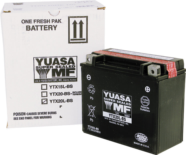 BATTERY YTX20L-BS MAINTENANCE FREE