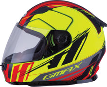 Load image into Gallery viewer, YOUTH GM-49Y FULL-FACE ROGUE HELMET MATTE HI-VIS/RED YL