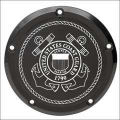 US Coast Guard Custom Laser Engraved Derby Cover - For Harley Davidson (Select Your Model)
