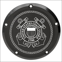 Load image into Gallery viewer, US Coast Guard Custom Laser Engraved Derby Cover - For Harley Davidson (Select Your Model)