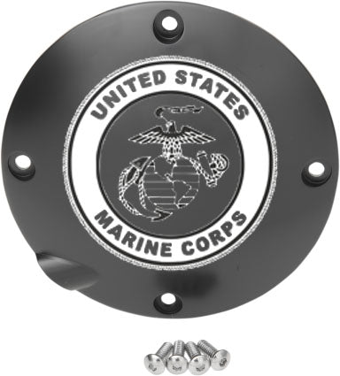 US Marine Corps Custom Laser Engraved Derby Cover - For Harley Davidson (Select Your Model)