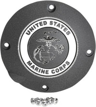 Load image into Gallery viewer, US Marine Corps Custom Laser Engraved Derby Cover - For Harley Davidson (Select Your Model)