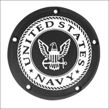 Load image into Gallery viewer, US Navy Custom Laser Engraved Derby Cover - For Harley Davidson (Select Your Model)