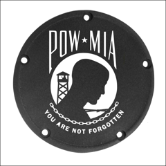 POW-MIA Custom Laser Engraved Derby Cover - For Harley Davidson (Select Your Model)