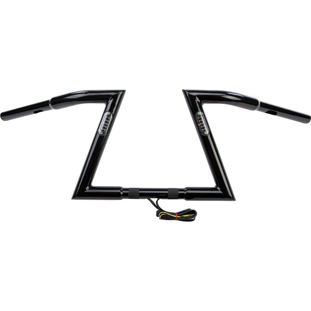 "Z BARS HANDLEBAR 10"" 33.5"" LIGHT GLOSS BLACK HARLEY DAVIDSON"
