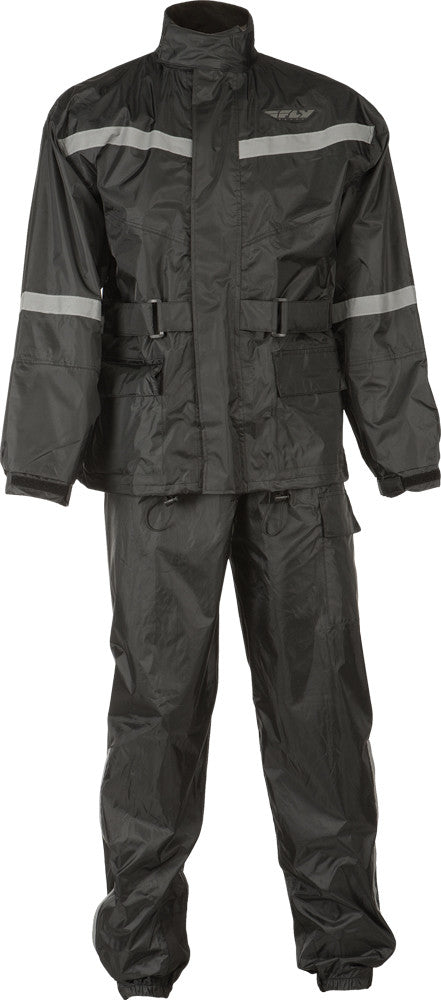 2-PIECE RAIN SUIT BLACK 2X