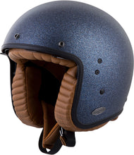 Load image into Gallery viewer, BELFAST OPEN-FACE SOLID HELMET METALLIC BLUE XS
