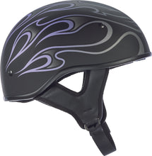 Load image into Gallery viewer, .357 FLAME HALF HELMET PURPLE 2X