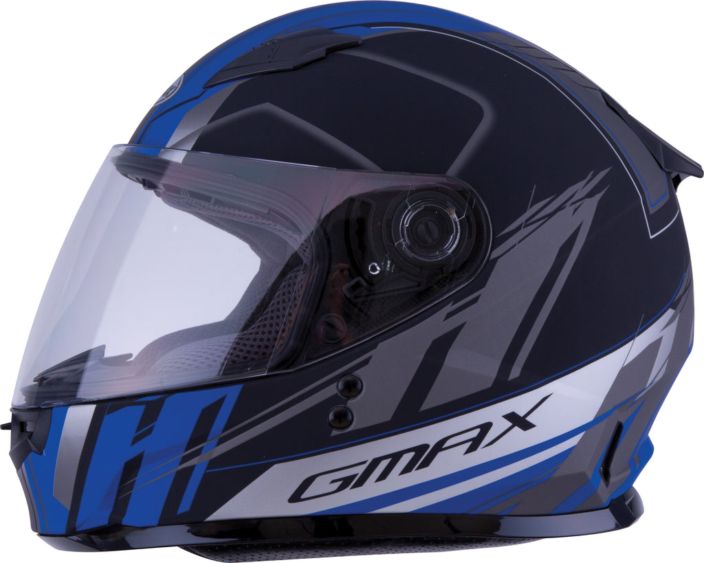 YOUTH GM-49Y FULL-FACE ROGUE HELMET MATTE BLACK/BLUE YM
