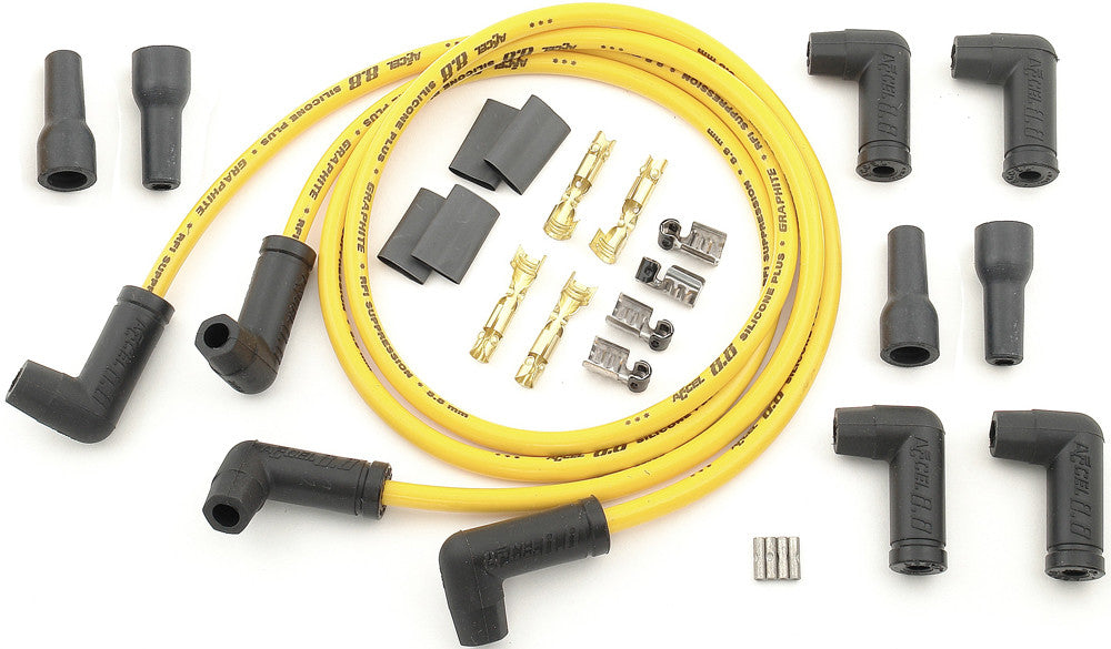 4 PLUG WIRE SET 8.8MM YELLOW