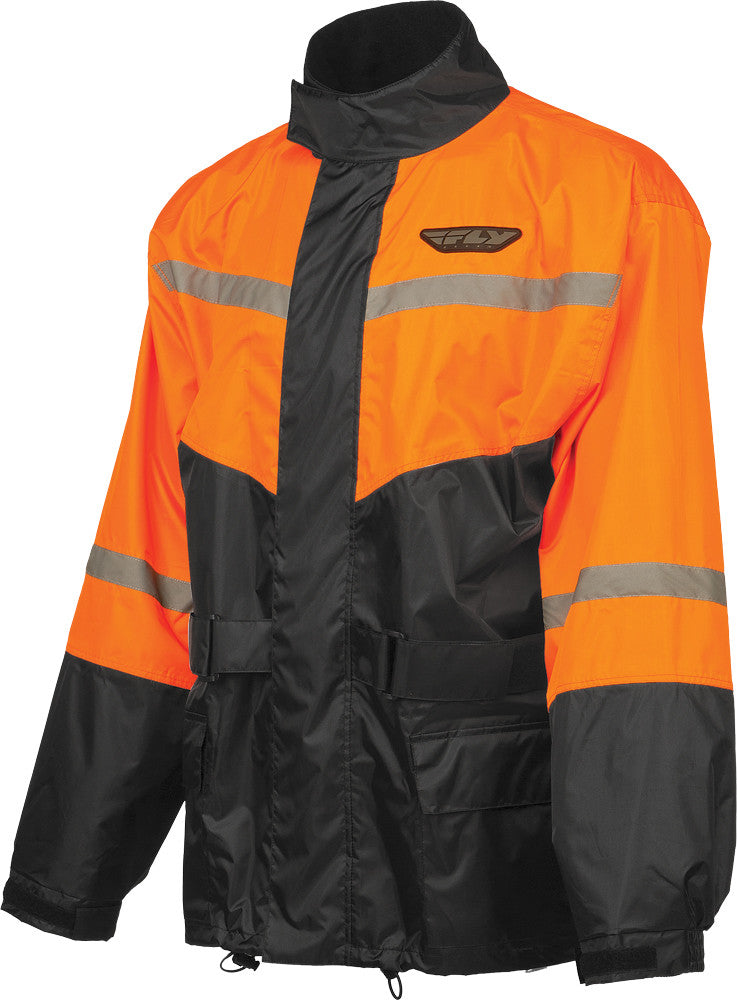 2-PIECE RAIN SUIT BLACK/ORANGE LG