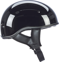 Load image into Gallery viewer, .357 SOLID HALF HELMET GLOSS BLACK 2X