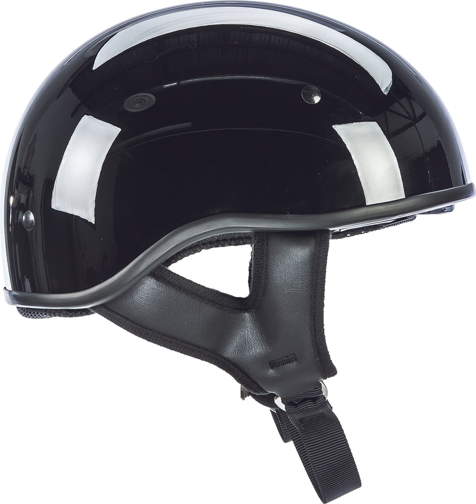 .357 SOLID HALF HELMET GLOSS BLACK XL
