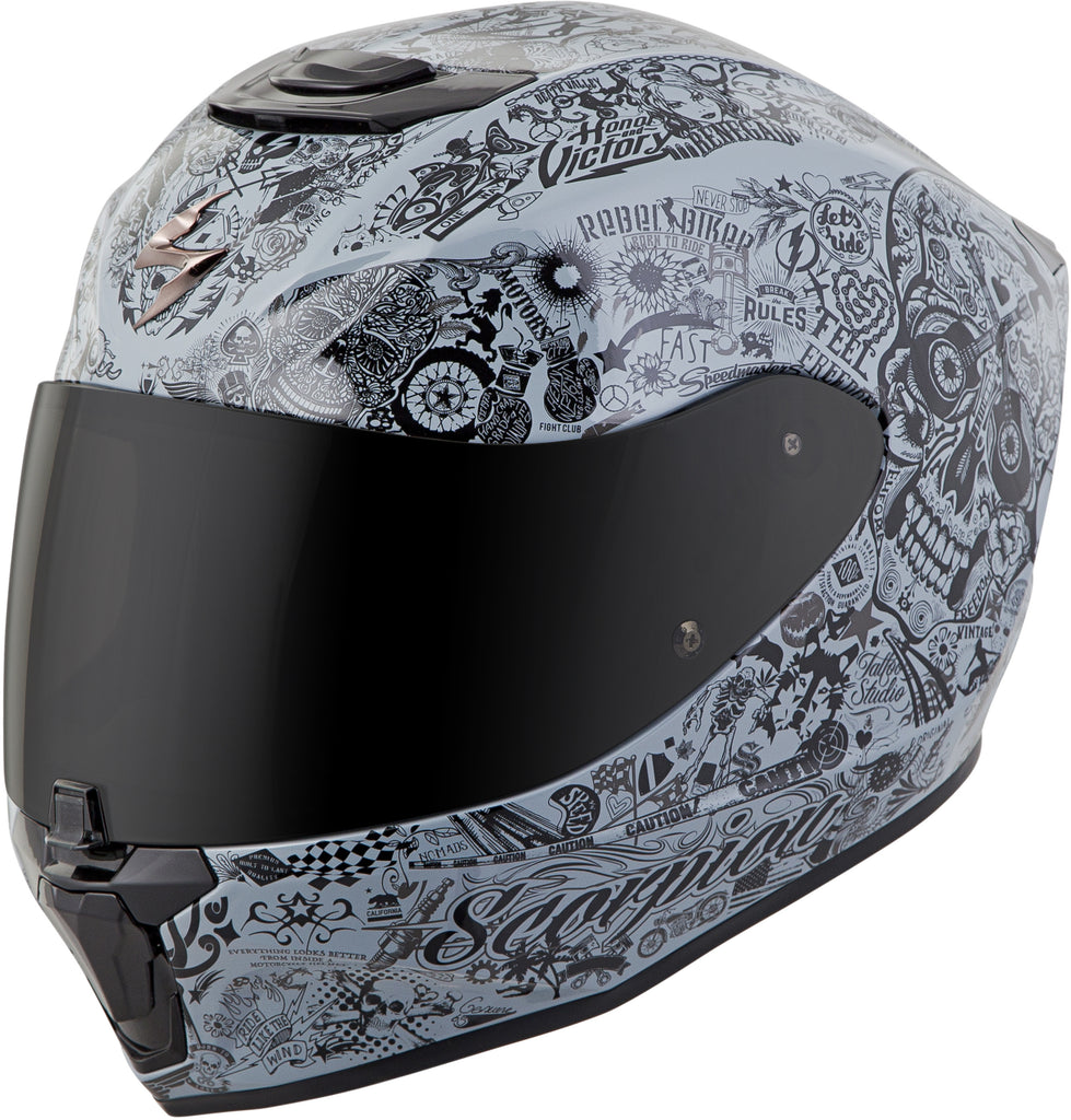 EXO-R420 FULL-FACE SHAKE HELMET CEMENT GREY XS
