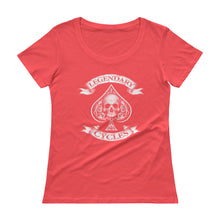 "Load image into Gallery viewer, ""Legendary Cycles"" Logo Womens Scoopneck T-Shirt"