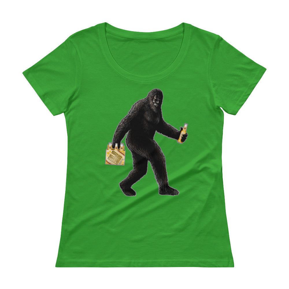 """Partying with Sasquatch"" Womens Scoopneck T-Shirt"