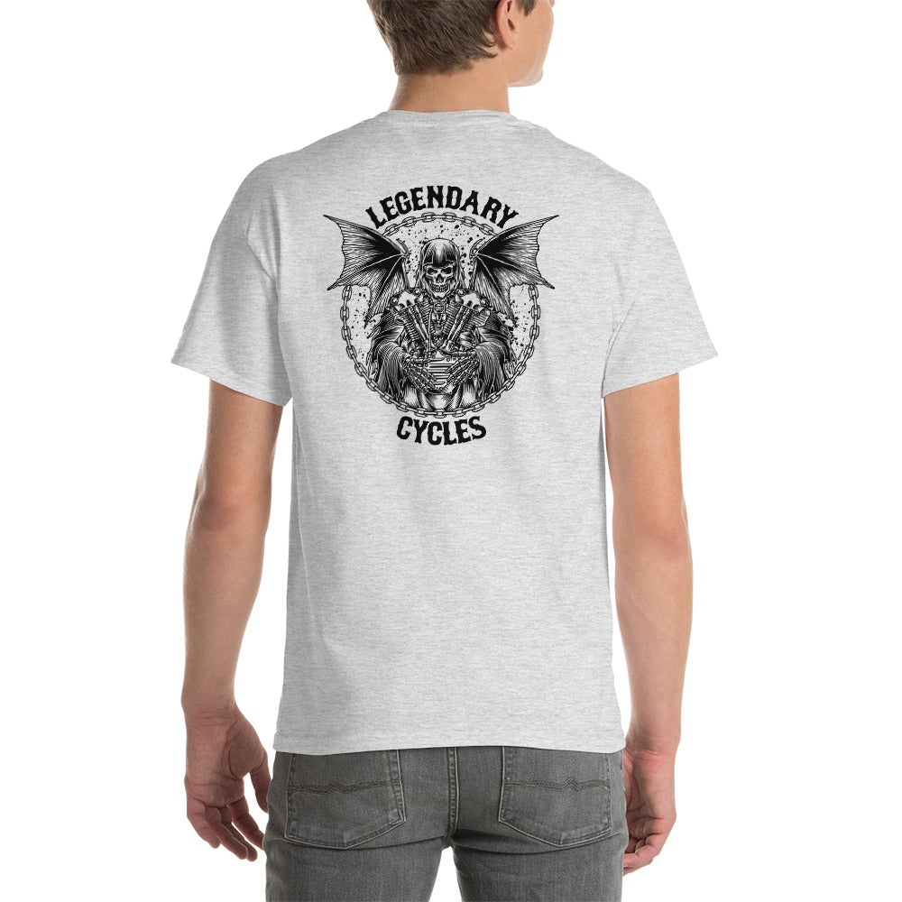 """Legendary Cycles Reaper"" Logo Mens Short Sleeve T-Shirt"