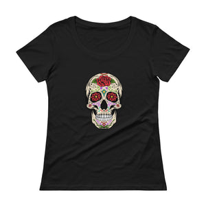 """Sugar Skull"" Womens Scoopneck T-Shirt"