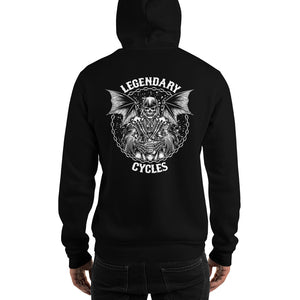 """Legendary Cycles Reaper"" Logo Hooded Sweatshirt (Unisex Hoodie)"