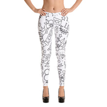 "Load image into Gallery viewer, ""True Love"" Old School Tattoo Style Womens Leggings"