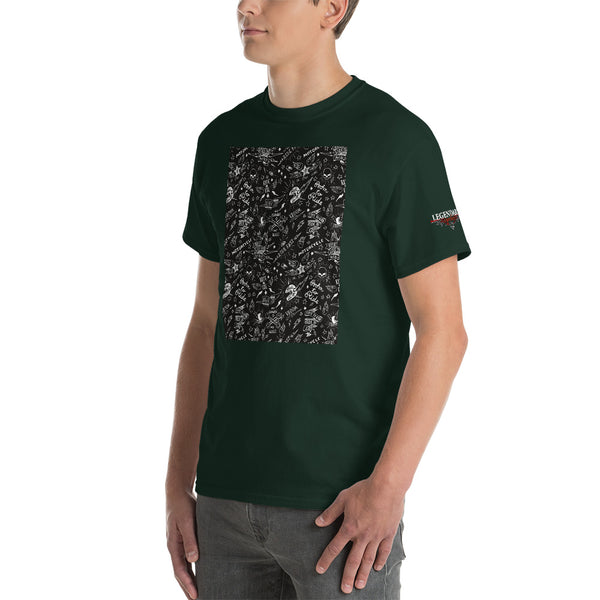 """Born To Ride"" Old School Tattoo Style Mens Short Sleeve T-Shirt"