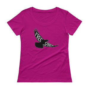 """Free Spirit"" Womens Scoopneck T-Shirt"