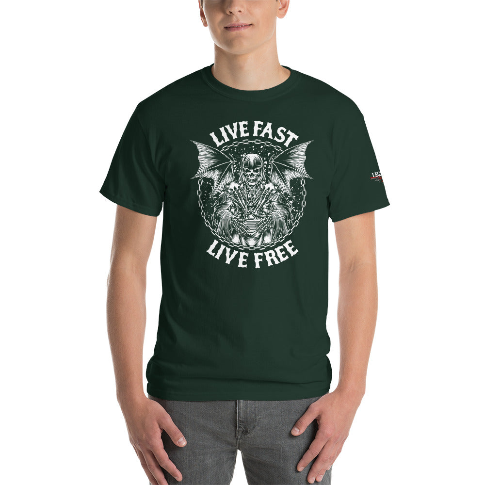"""Live Fast, Live Free"" Mens Short Sleeve T-Shirt"