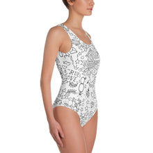 "Load image into Gallery viewer, ""True Love"" Womens One-Piece Swimsuit"