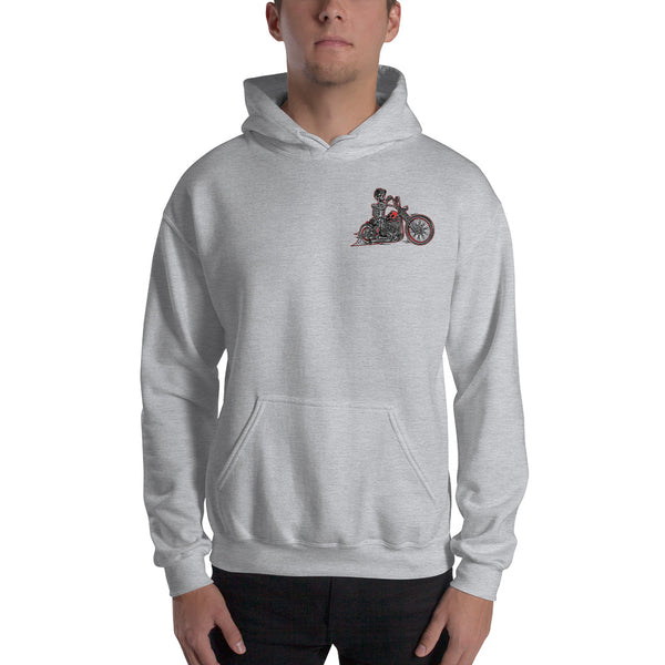 """Legendary Cycles Skully Bobber "" Hooded Sweatshirt (Unisex Hoodie)"