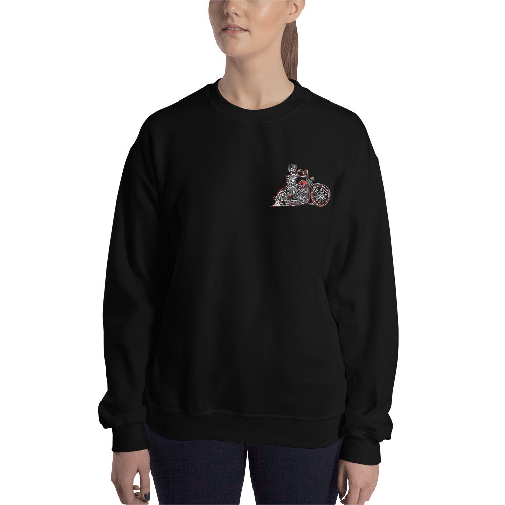 """Skully Bobber"" Womens Crewneck Sweatshirt"