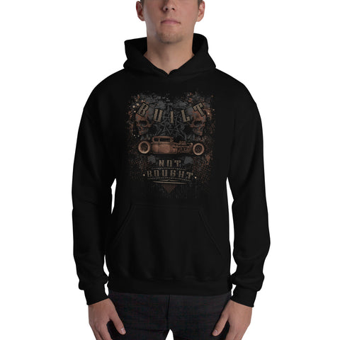 """Built Not Bought Hot Rod"" Mens Hooded Sweatshirt"
