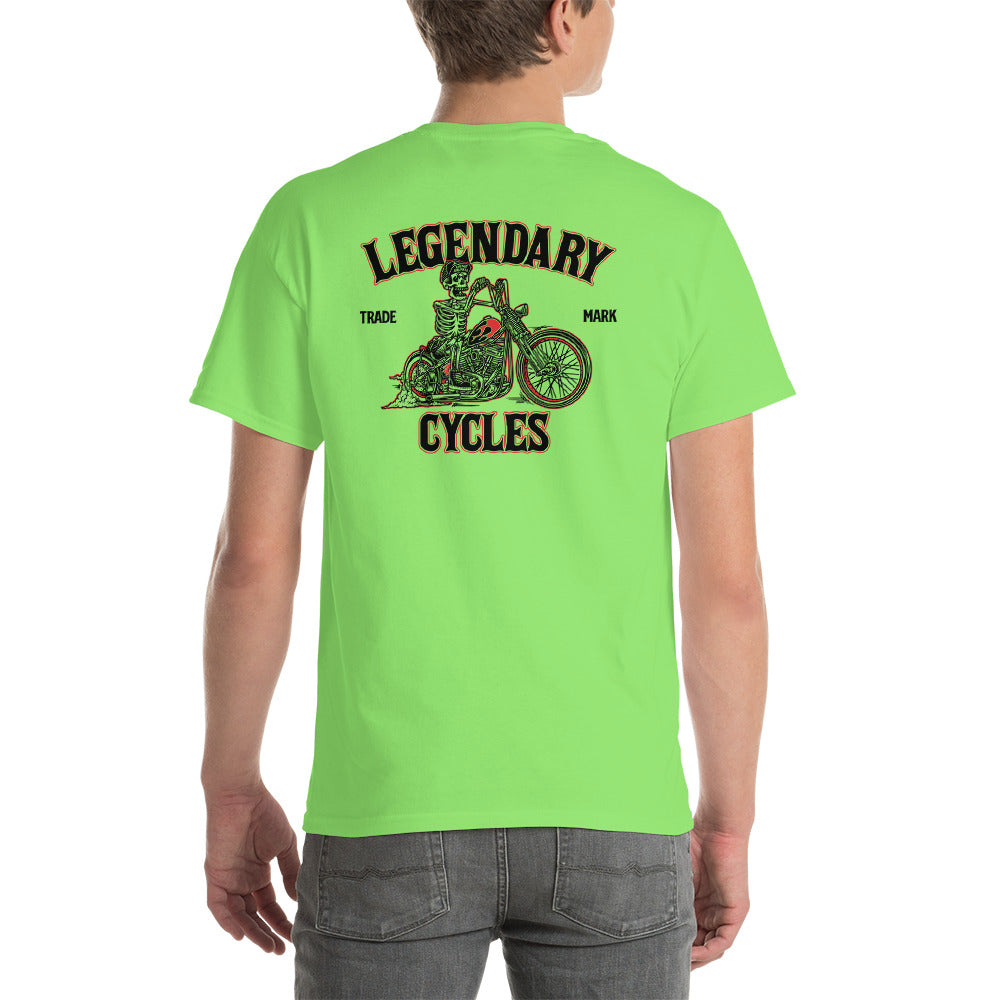 """Legendary Cycles Skully Bobber "" Mens Short Sleeve T-Shirt"