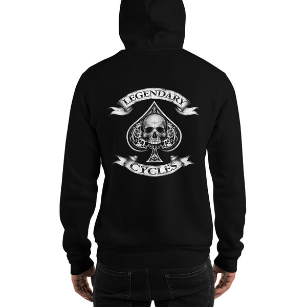 """Built Not Bought Bobber"" Mens Hooded Sweatshirt (Unisex Hoodie)"