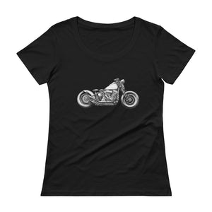 """Twin Cam Bobber"" Womens Scoopneck T-Shirt"