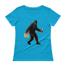 "Load image into Gallery viewer, ""Partying with Sasquatch"" Womens Scoopneck T-Shirt"