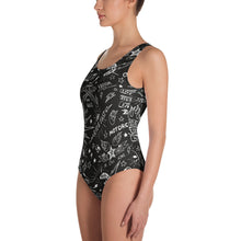 "Load image into Gallery viewer, ""Born To Ride"" Womens One-Piece Swimsuit"