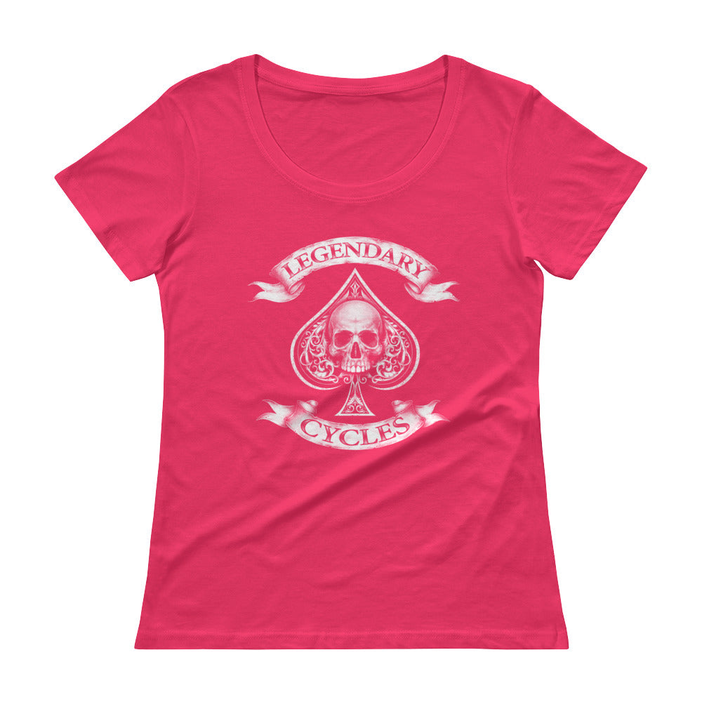 """Legendary Cycles"" Logo Womens Scoopneck T-Shirt"