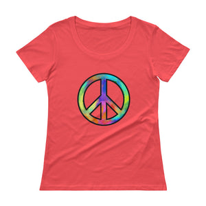 """Peace"" Womens Scoopneck T-Shirt"