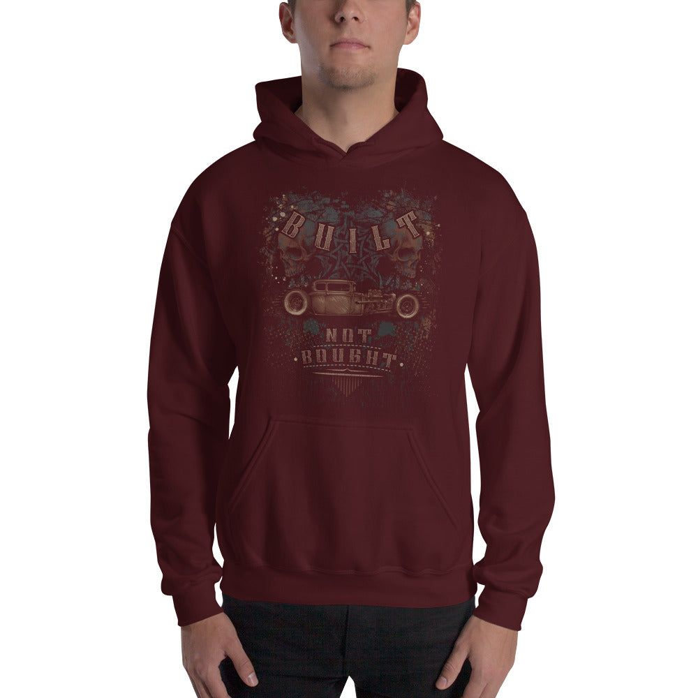 """Built Not Bought Hot Rod"" Mens Hooded Sweatshirt (Unisex Hoodie)"