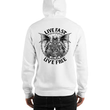 "Load image into Gallery viewer, ""Live Fast, Live Free"" Hooded Sweatshirt (Unisex Hoodie)"